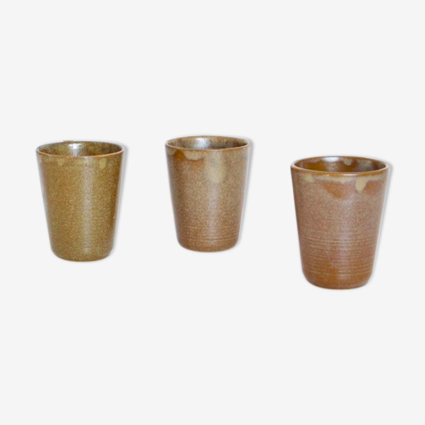 Set of 3 cups in sandstone of Digoin