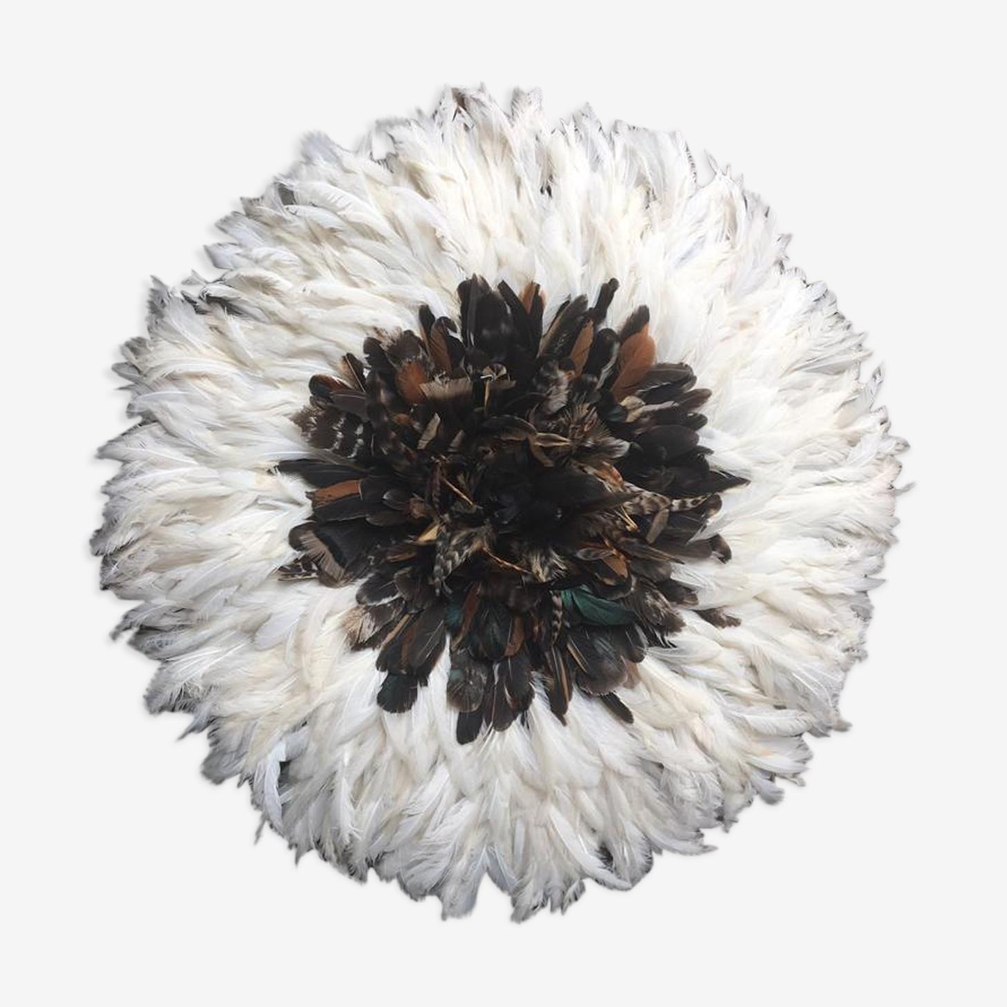 Juju hat intérieur naturel contour blanc de 50 cm