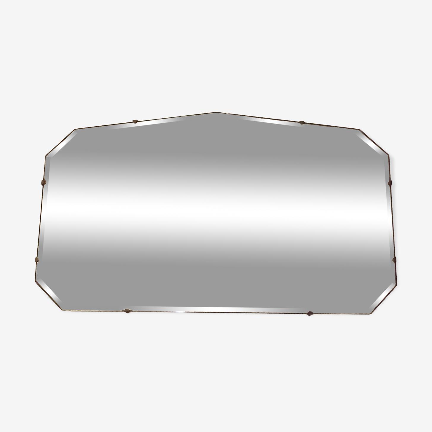 Beveled mirror 50s 40x69cm