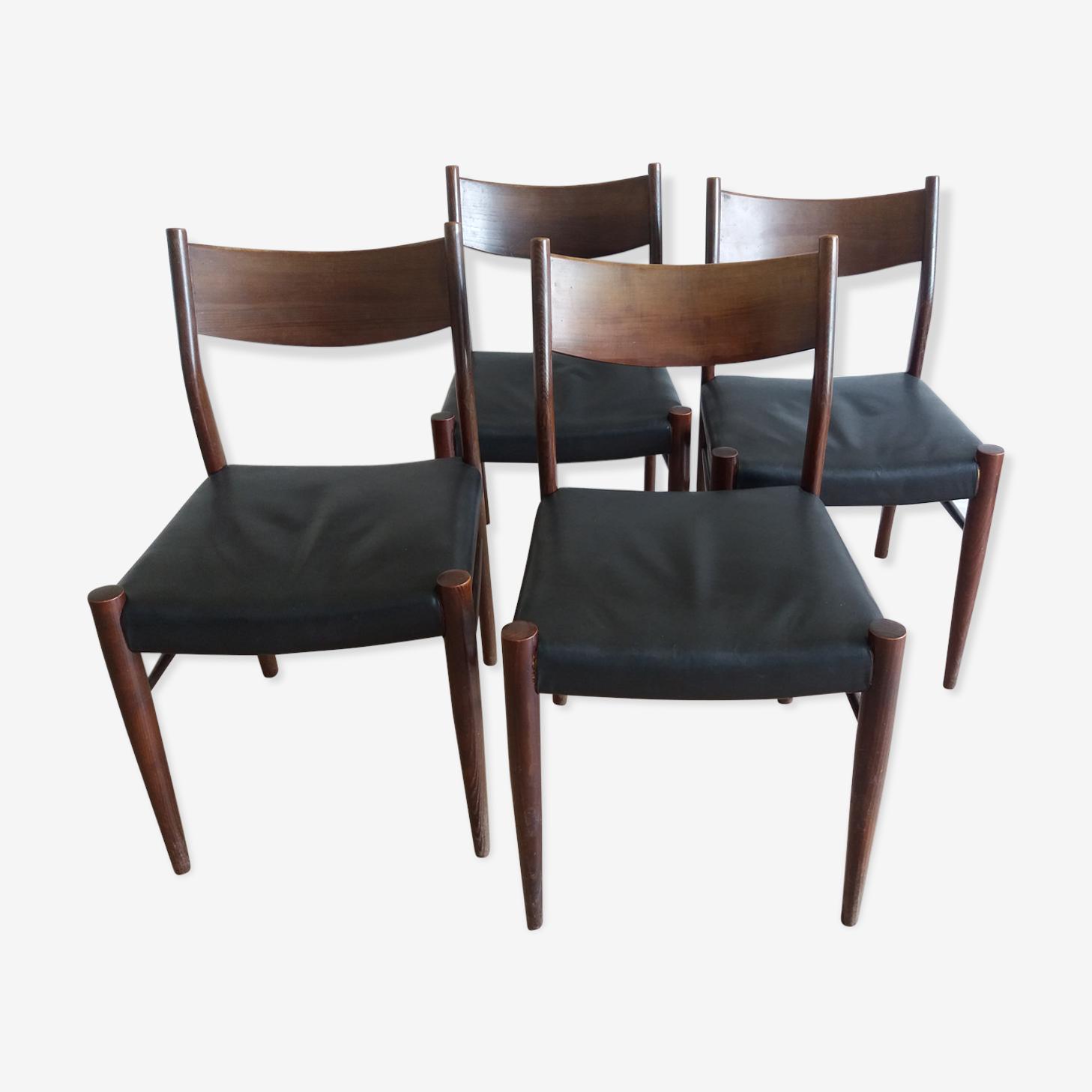 4  scandinavian chairs