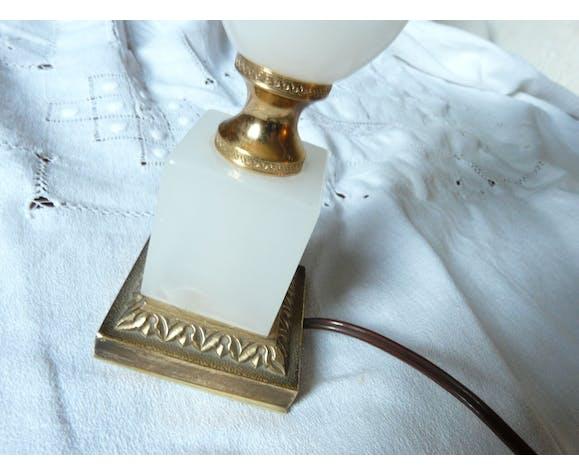 Lampe de table bureau ou chevet en albâtre