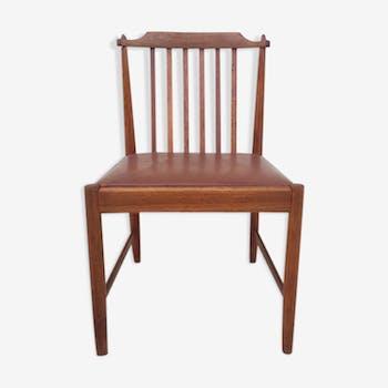 Chaise à barreaux scandinave teck 1960