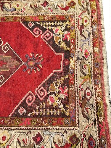 Tapis d'orient ancien de Turquie Kirsehir Anatolie 105x320cm