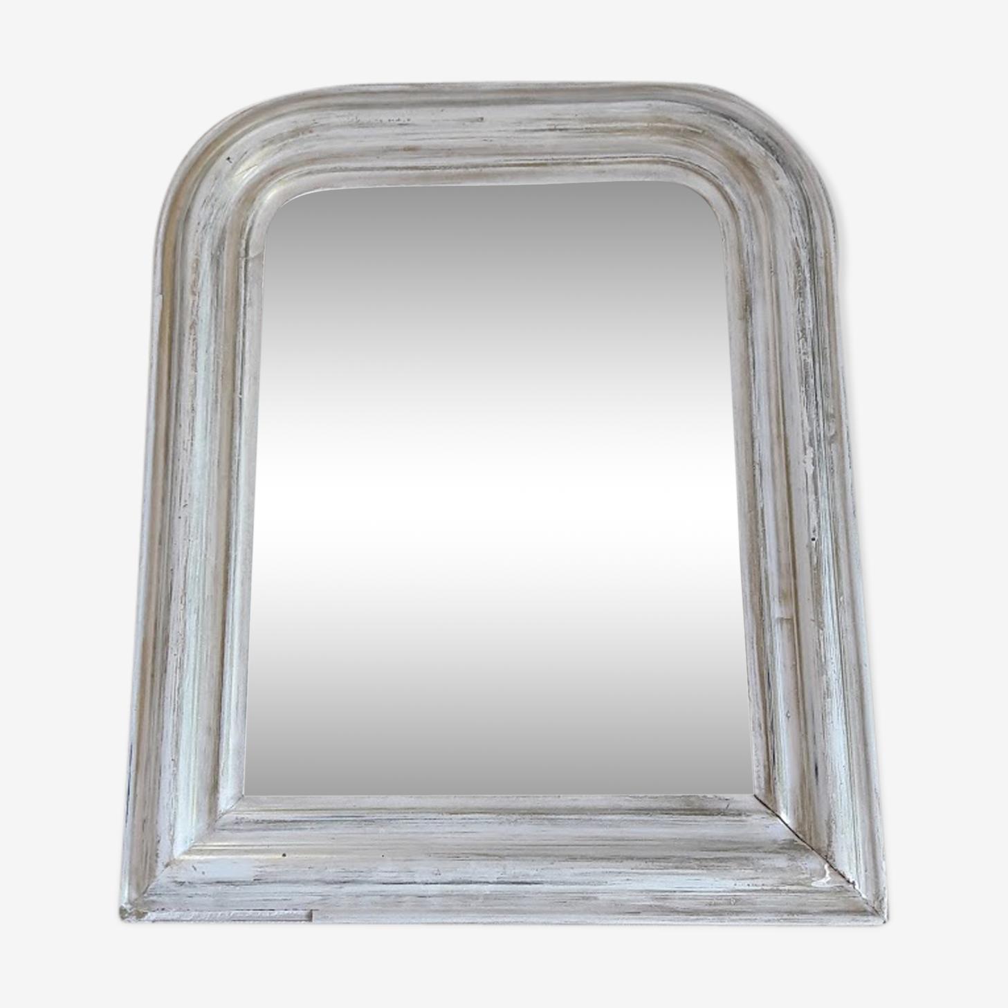 Mirror Louis Philippe patinated white 52x43cm
