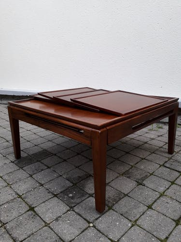 Scandinavian system coffee table, in solid wood