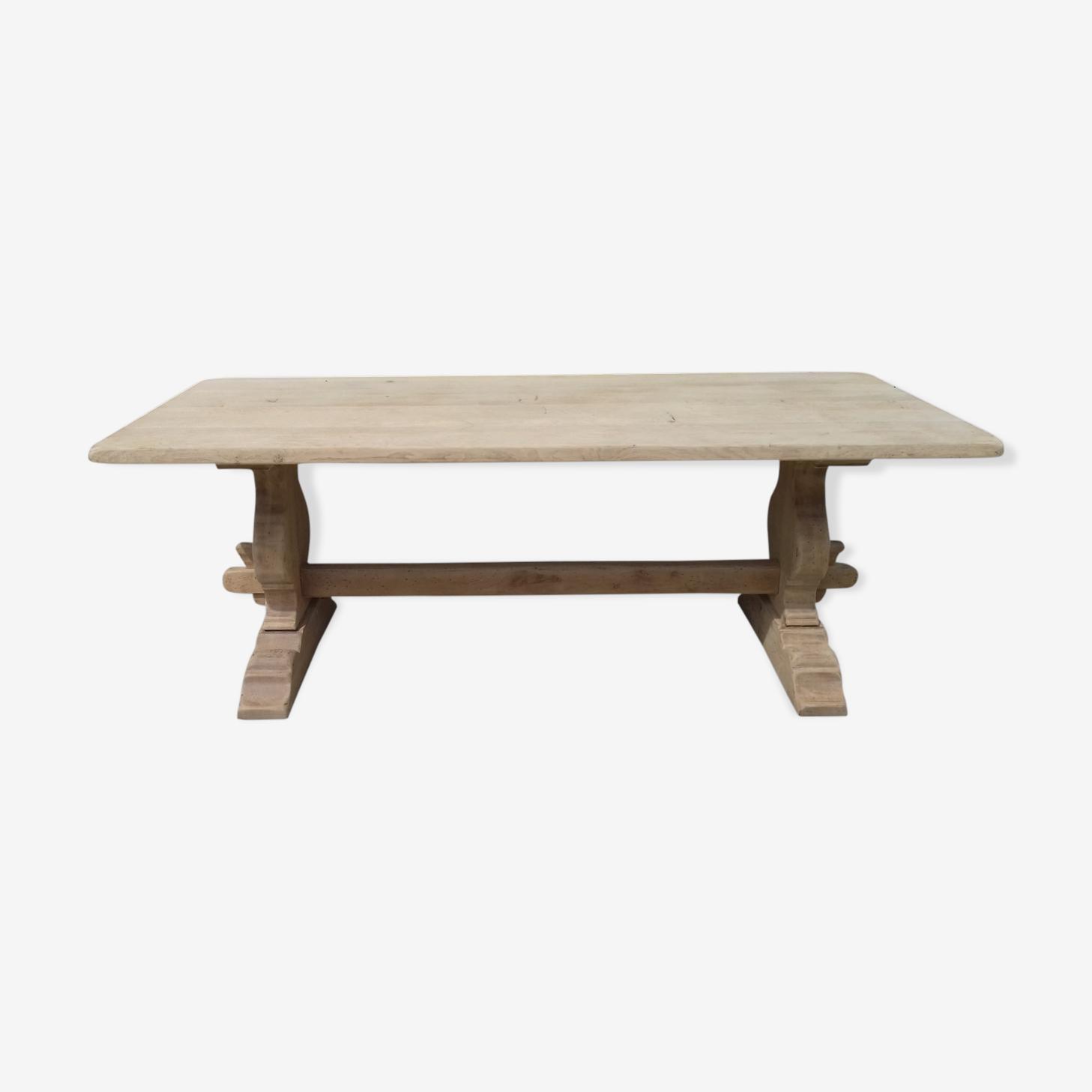 Table monastère en chêne bois brut