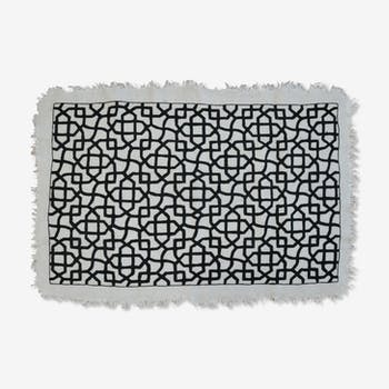 Tapis en laine blanc
