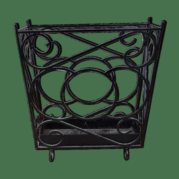 porte parapluie art d co en fer forge fer noir art d co pf00z5b. Black Bedroom Furniture Sets. Home Design Ideas