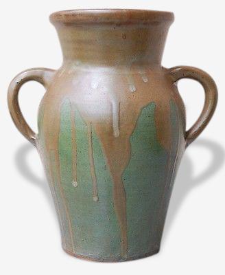Vase en grés irisé 1900 Art Nouveau deco ancien 1900 French ceramic