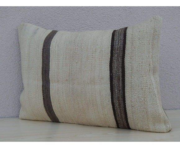 Coussin kilim blanc 35x50 cm
