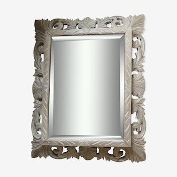 Miroir d'époque feuilles d'acanthe 60x76cm