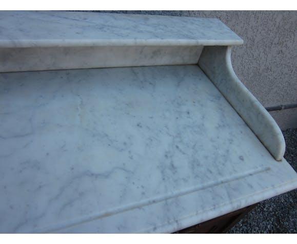 Meuble de toilette des annèes 20-30 dessus marbre
