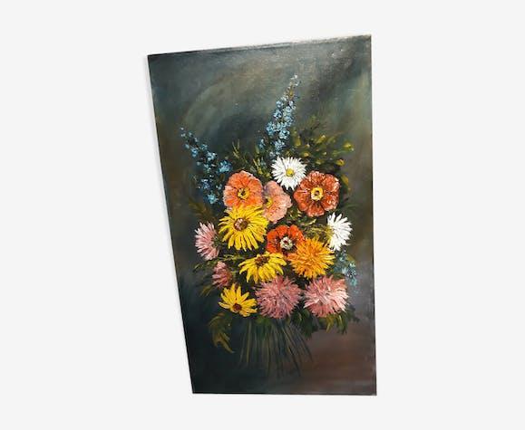 Huile sûr toile bouquet de fleurs