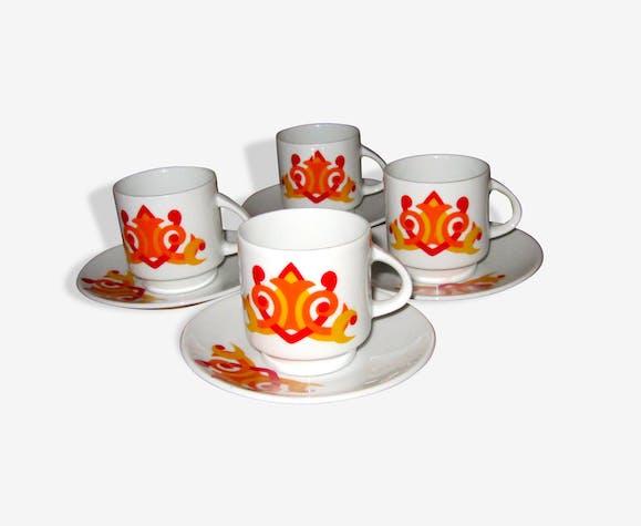Tasses années 70 porcelaine allemande