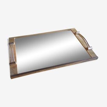 Metal frame mirror tray