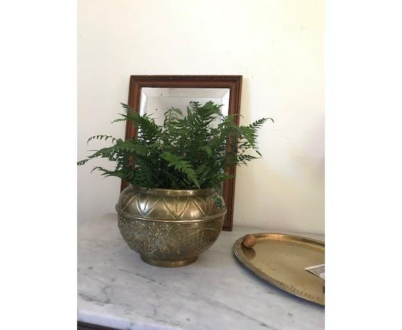 Cache-pot en laiton vintage