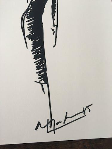 Illustration de mode de presse collection Christian Dior 1984/85