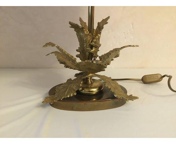 Lampe vintage bronze décor de feuilles design