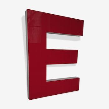 Letter 'E' sign lettering Citroën