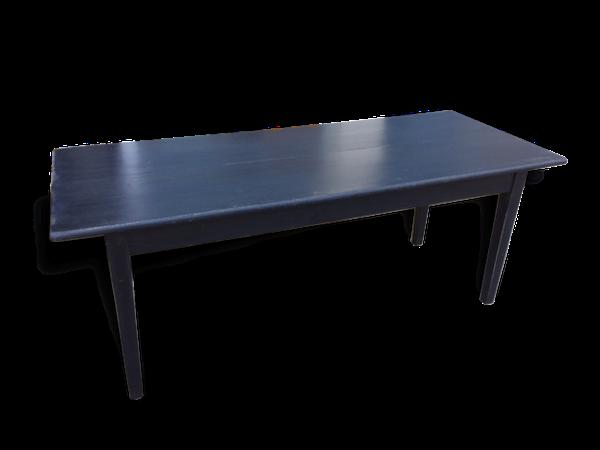 Table rectangle noire patinée