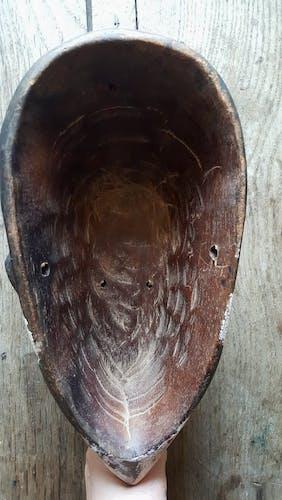 Paire de masques africains en bois