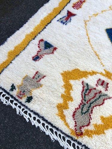 Tapis  marocain azilal fait main en laine 210x310 cm