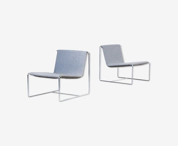 2 Lounge Fauteuils.Set Of 2 Emilio Nanni Drop Lounge Chairs For Zanotta