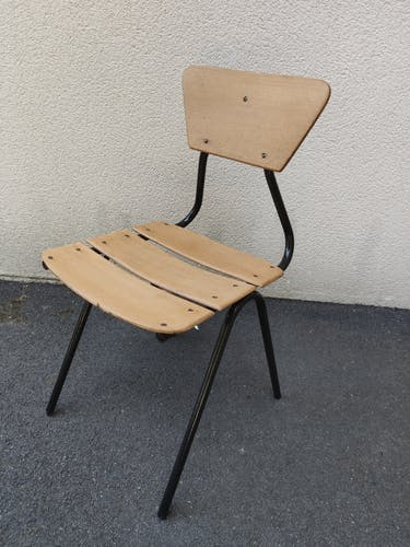 Bureau et chaise enfant vintage