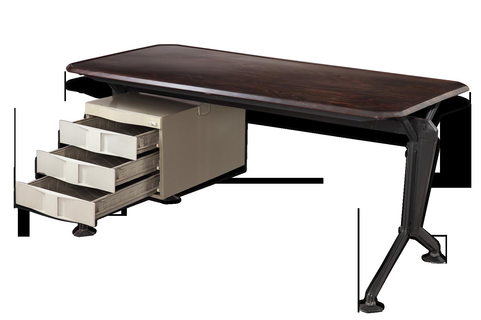 Bureau arco studio bbpr pour olivetti bois matériau design