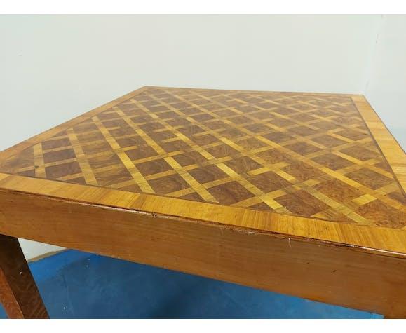 Table en marquèterie italienne des années 1960