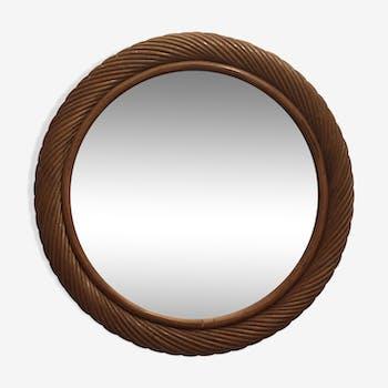 Miroir en osier 40 x 40 cm