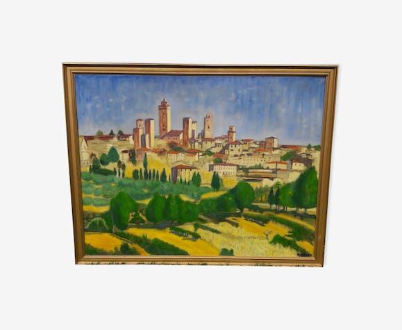 Corsican Village painting