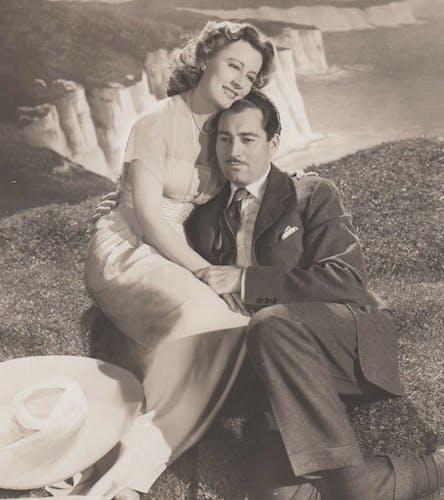 """Photo originale cinéma """"Les blanches falaises de Douvres"""" 1944"""