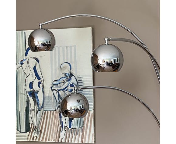 """Floor lamp """"Lily of the valley"""" by Goffredo Reggiani 1970"""