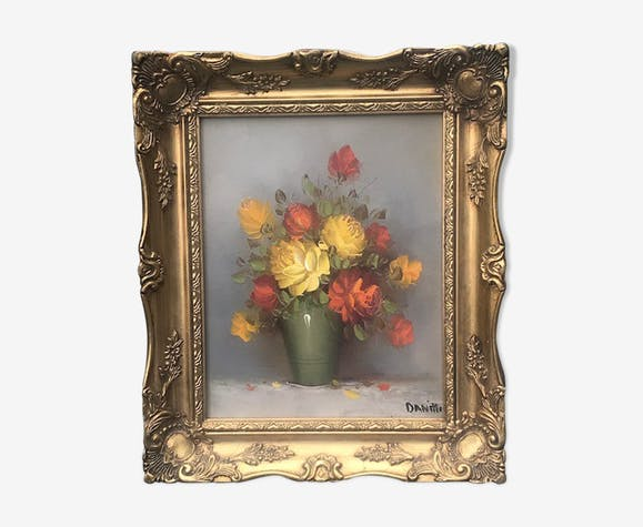 Peinture bouquet champêtre