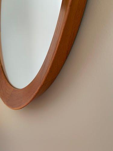 Scandinavian teak mirror 1960