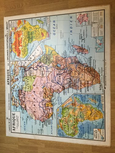 Geographical School of Africa map