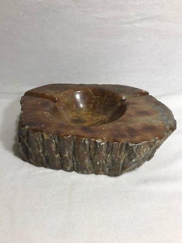Ashtray old polished stone