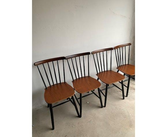 Ensemble de 4 chaises du milieu du siècle par Billund Stolefabrik
