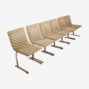 Chairs designed by Giovanni Offredi for Saporiti Italy, 1970