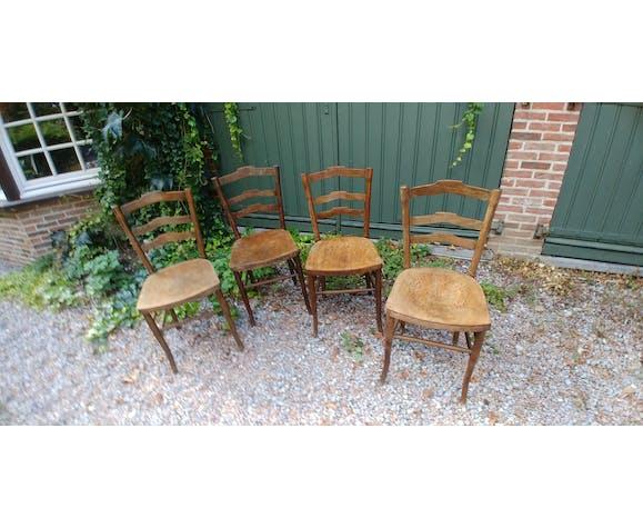 Lot de 4 chaises de bistrot Cambier