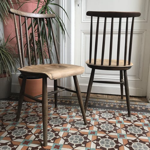 Paire de chaises  Fanett par Ilmari Tapiovaara