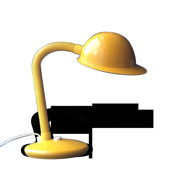 Lampe articule de couleur jaune vintage doccasion
