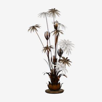 Lampadaire Floral en Dorure par Hans Kögl 1970s