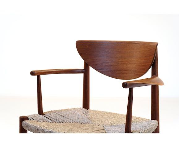 Fauteuil teck par Peter Hvidt & Orla Molgaard modèle 316 1960's