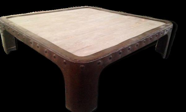 Table basse industrielle métal&bois