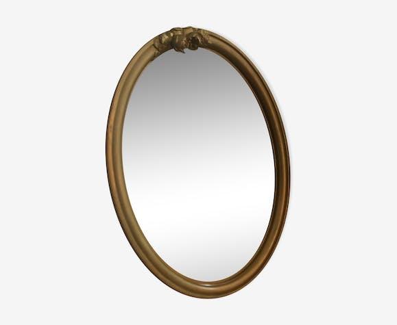 Miroir oval doré 34x45cm