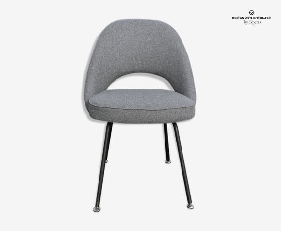 Chaise Conference d'Eero Saarinen gris clair - fabric - grey ... on