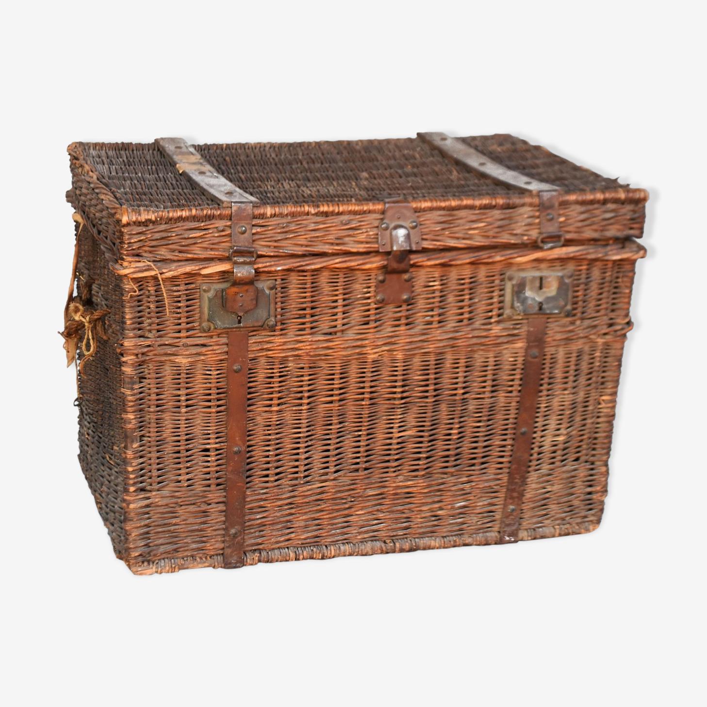 Malle de voyage 1900 en osier