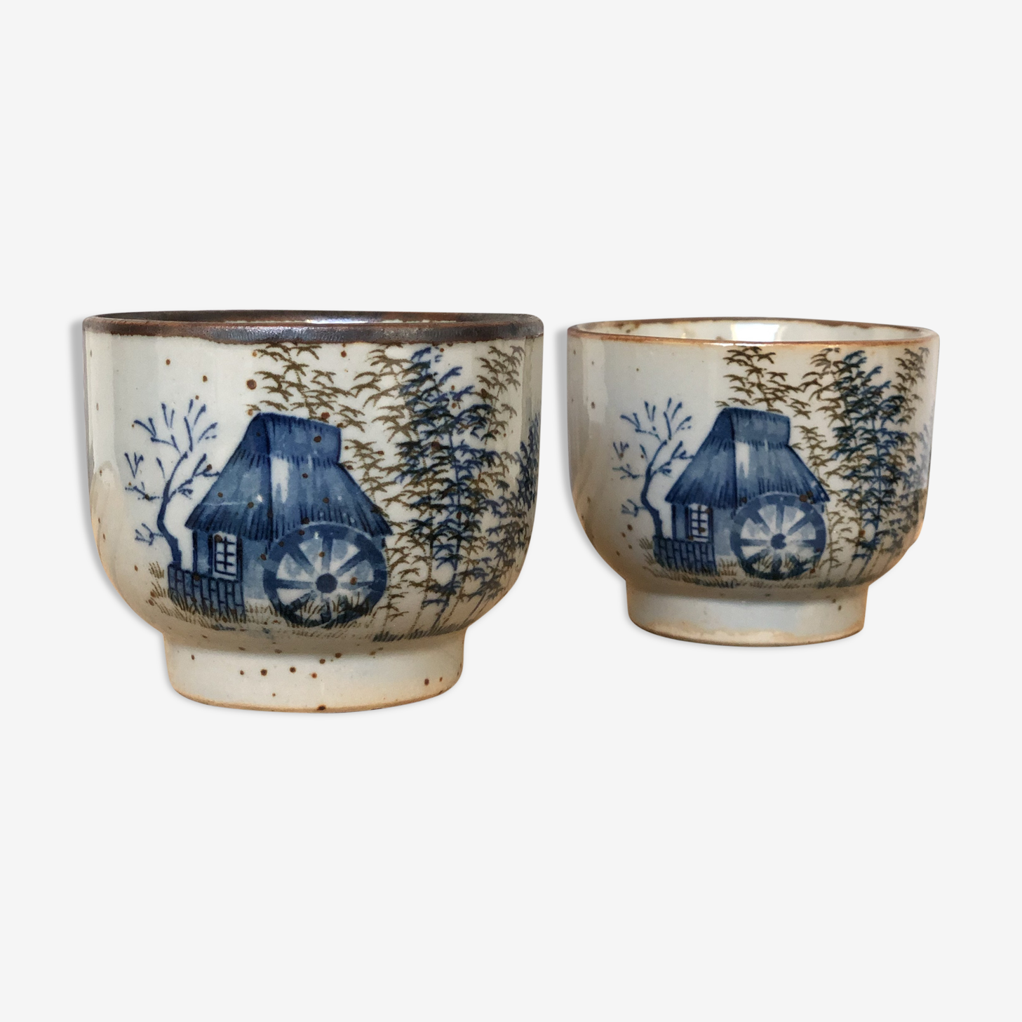 Coffee cups duo Jane Chinese motif
